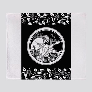 Merlin Art Nouveau fantasy Throw Blanket
