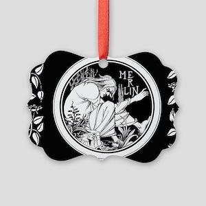 Merlin Art Nouveau fantasy Ornament