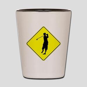 Golf Crossing Shot Glass