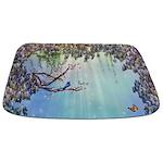 Purple Wisteria Springtime Bathmat