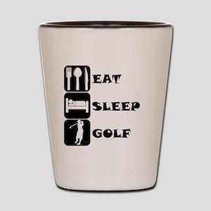 Eat Sleep Golf Shot Glass