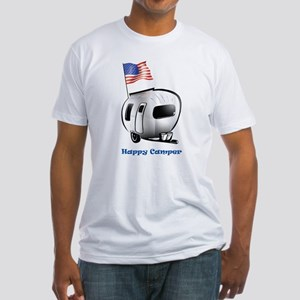 Happy Camper USA Fitted T-Shirt