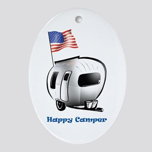 Happer Camper Oval Ornament