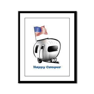 Happer Camper Framed Panel Print