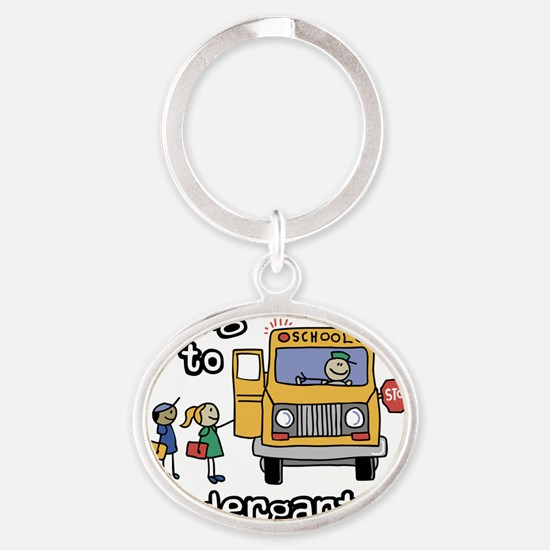 Going to Kindergarten Oval Keychain