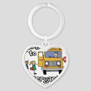 Going to Kindergarten Heart Keychain
