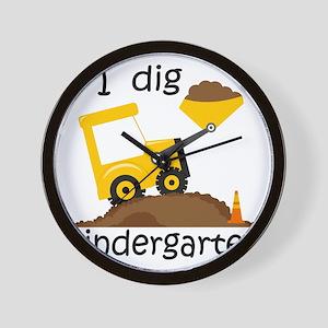 I Dig Kindergarten Wall Clock