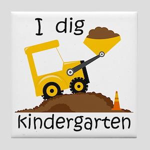 I Dig Kindergarten Tile Coaster