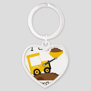 I Dig Kindergarten Heart Keychain