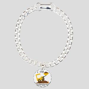 I Dig Kindergarten Charm Bracelet, One Charm