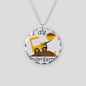 I Dig Kindergarten Necklace Circle Charm