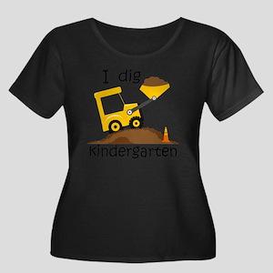 I Dig Ki Women's Plus Size Scoop Neck Dark T-Shirt