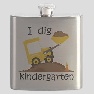I Dig Kindergarten Flask