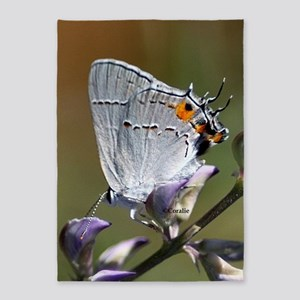 Gray Hairstreak Butterfly 5'x7'Area Rug