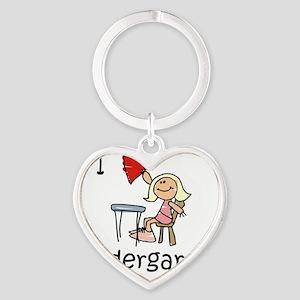 Girl I Love Kindergarten Heart Keychain