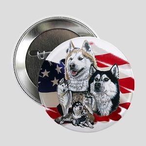 America flag Husky Button