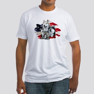 America flag Husky Fitted T-Shirt