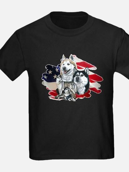 America flag Husky T