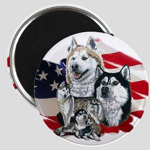 America flag Husky Magnet