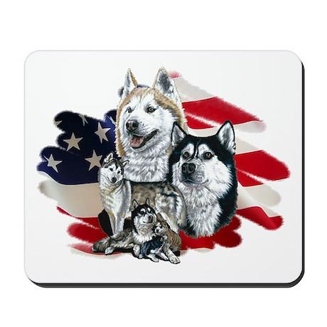 America flag Husky Mousepad