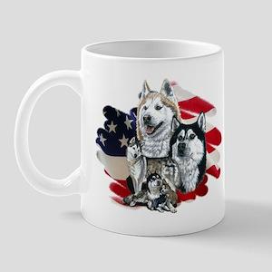 America flag Husky Mug