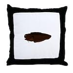 Black Brotula Throw Pillow