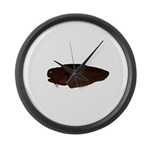 Black Brotula Large Wall Clock