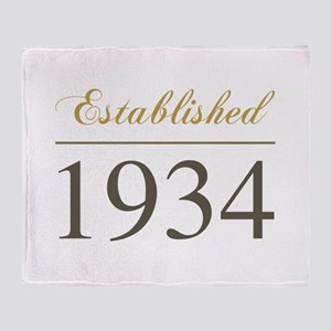 Established 1934 Throw Blanket