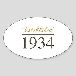 Established 1934 Sticker (Oval)