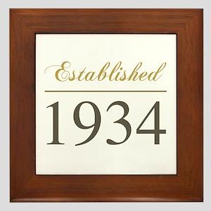 Established 1934 Framed Tile