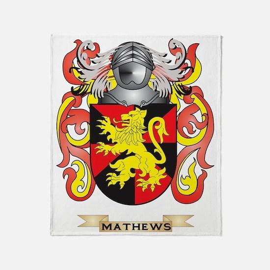 Mathews Coat of Arms - Family Crest Throw Blanket