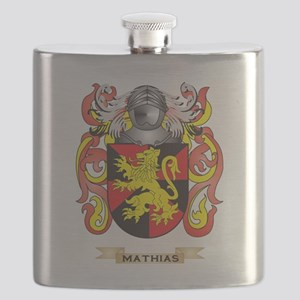 Mathias Coat of Arms - Family Crest Flask