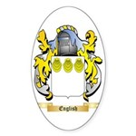 English Sticker (Oval)