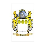 England Sticker (Rectangle 50 pk)