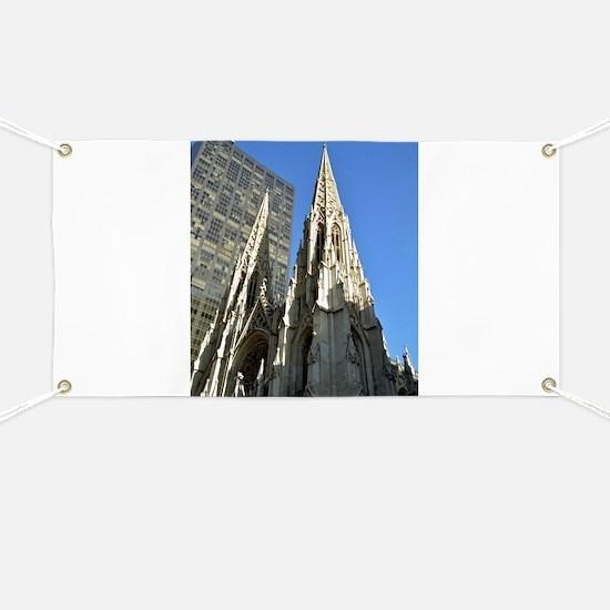 St. Patricks Cathedral Spires Banner
