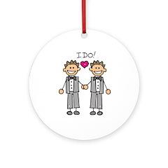 Gay Wedding Grooms Ornament (Round)