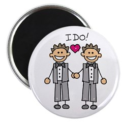 Gay Wedding Grooms Magnet