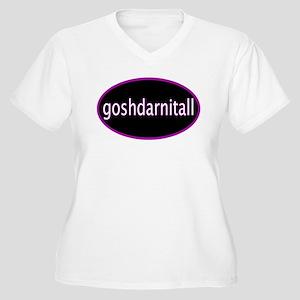 Goshdarnitall Women's Plus Size V-Neck T-Shirt