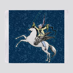 Pegasus Flying Horse Fantasy Throw Blanket