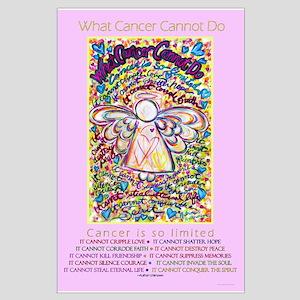 Spring Heart Cancer Angel Large Poster