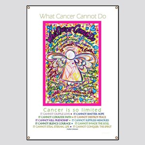Spring Heart Cancer Angel Banner