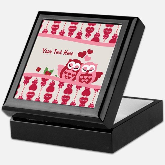 Valentines Owl Couple Keepsake Box