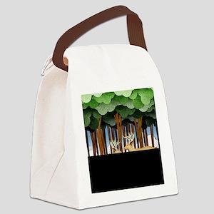 Paper Deer Canvas Lunch Bag