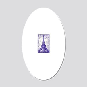 Antique 1939 France Eiffel T 20x12 Oval Wall Decal