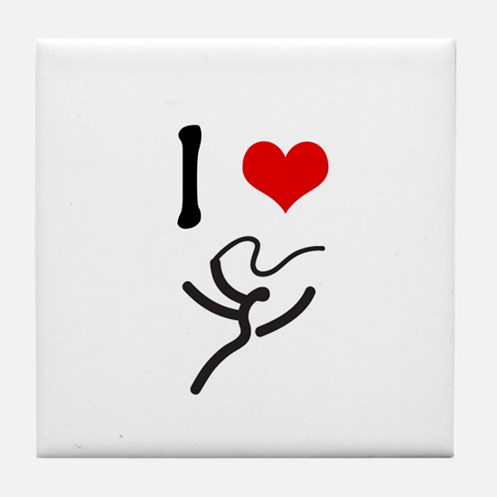 I love Rhythmic Gymnastics! Tile Coaster