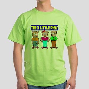 3 Little Pigs Green T-Shirt