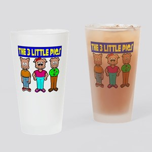 3 Little Pigs Drinking Glass
