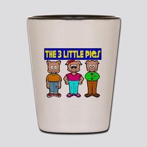 3 Little Pigs Shot Glass