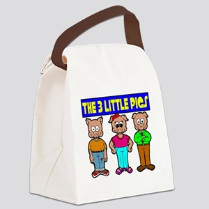 3 Little Pigs Canvas Lunch Bag