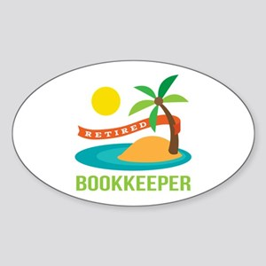 Retired Bookkeeper Sticker (Oval)